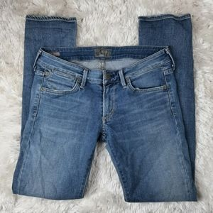 AGOLDE Chloe Low Rise Slim Blue Jeans Size 28